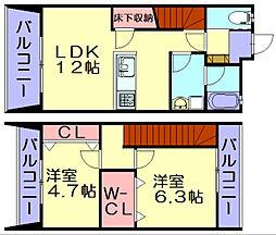 Lino House[2階]の間取り