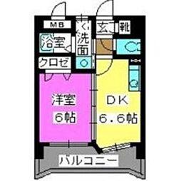 福岡県福岡市博多区堅粕5丁目の賃貸マンションの間取り