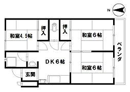 前田マンション[403号室]の間取り