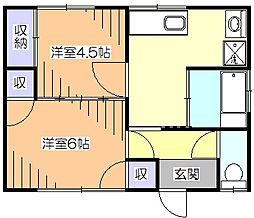 [一戸建] 東京都小平市学園東町3丁目 の賃貸【東京都 / 小平市】の間取り