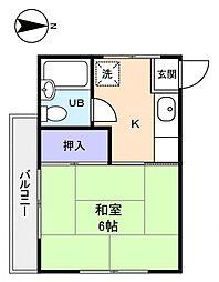 コーポ四季村上[2階]の間取り