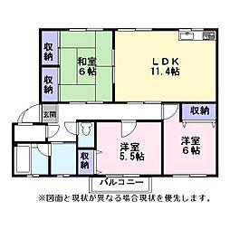 Nasu34[203号室]の間取り