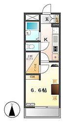 レオパレス八剱[1階]の間取り
