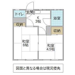永井アパート[102号室号室]の間取り