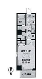 東京都渋谷区元代々木町の賃貸マンションの間取り