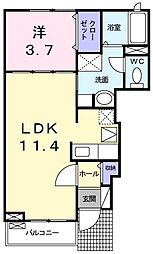 静岡県静岡市葵区古庄5丁目の賃貸アパートの間取り