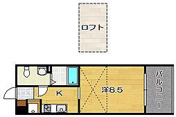 大阪府茨木市総持寺2丁目の賃貸マンションの間取り