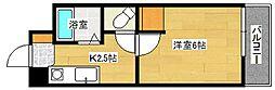 広島県広島市南区大州4丁目の賃貸マンションの間取り
