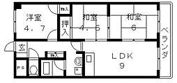 メゾンクレール[303号室号室]の間取り