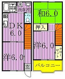 [テラスハウス] 埼玉県八潮市八潮1丁目 の賃貸【/】の間取り