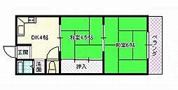 宮の里マンション[A405号室号室]の間取り