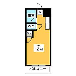 アカデミックハイツNo.1[4階]の間取り