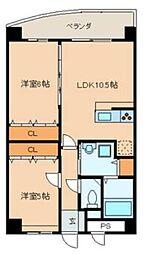 E.POPULAR Ⅱ[9階]の間取り