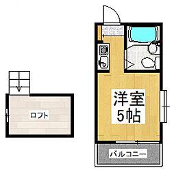 りんどうハイツ[2階]の間取り