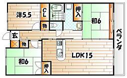 エクセレント中井[2階]の間取り