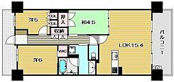 ライオンズ茨木ニューシティA街区[14階]の間取り