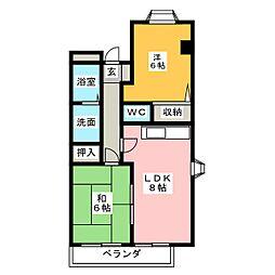 メゾン長良[1階]の間取り