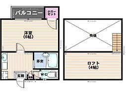 NUTRIMO井尻[203号室]の間取り