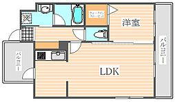 アイセレブ箱崎浪漫邸[8階]の間取り