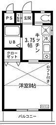 リュミエール東大沢[2階]の間取り