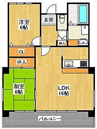 メゾンドファミーユ2[2階]の間取り