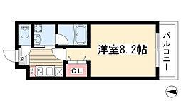 愛知県名古屋市名東区上社2丁目の賃貸マンションの間取り
