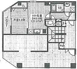 JR京葉線 蘇我駅 徒歩4分の賃貸マンション 1階1DKの間取り