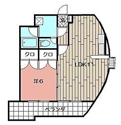 ウィルステージ古船場[301号室]の間取り