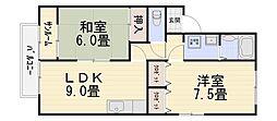 エスポワール錦丘[101号室号室]の間取り
