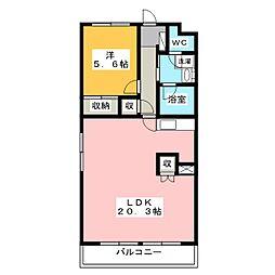 静岡県浜松市中区小豆餅4丁目の賃貸マンションの間取り