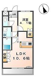 タイニーコート[2階]の間取り
