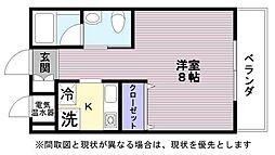 JR東海道・山陽本線 彦根駅 徒歩10分の賃貸マンション 3階1Kの間取り