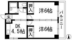 サンハイツ加茂[2階]の間取り