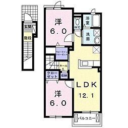アンズガーデン[2階]の間取り