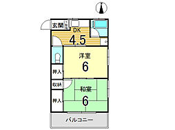 春日井荘[203号室]の間取り