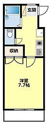 サンハイツTSUKIMI[1E号室]の間取り