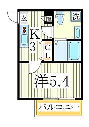 Fleur s-kashiwa[1階]の間取り