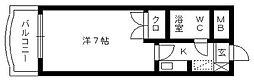 日神パレステージ浜松[401号室]の間取り