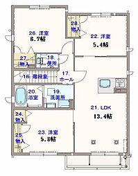 シャーメゾン サン フローリッシュplus[2階]の間取り
