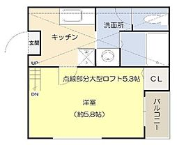 神奈川県川崎市中原区井田中ノ町の賃貸アパートの間取り