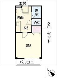 パールマンションII[2階]の間取り
