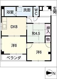 ハミング22[2階]の間取り
