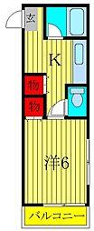 メゾン・グリーンヒル[105号室]の間取り