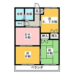 第二菅谷タウンハイツ[1階]の間取り