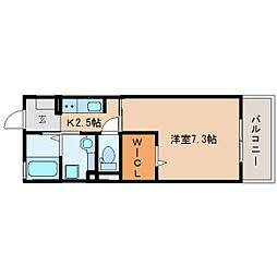 静岡鉄道静岡清水線 新清水駅 バス20分 白浜町下車 徒歩1分の賃貸アパート 2階1Kの間取り