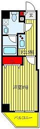 グランフォース東池袋 2階1Kの間取り