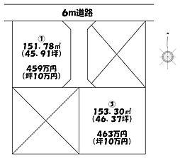 土地(佐野駅から徒歩34分、153.30m²、463万円)