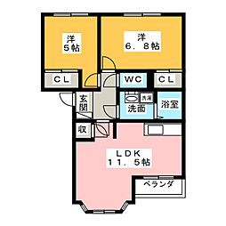 サンパレスⅤ[2階]の間取り