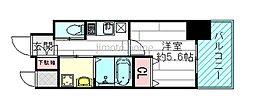 ファーストステージ江坂広芝町[2階]の間取り