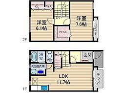 [タウンハウス] 大阪府茨木市上野町 の賃貸【/】の間取り